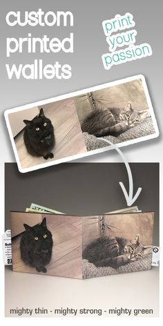 Personalised Cat Cartoon Iron On Transfer with FREE protective wallet