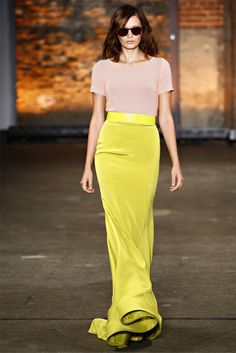 Yellow silk skirt. Gorgeous!!