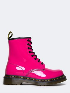 - Brand: Doc Martens - Style: Booties - Color: Hot Pink - Material: Smooth is the classic Dr. durable, with a smooth finish - Platform Height: Approx. Doc Martens Outfit, Doc Martins Boots, Doc Martens Style, Funky Shoes, Cute Shoes, Dr. Martens, Baskets, Pink Boots, Outfits