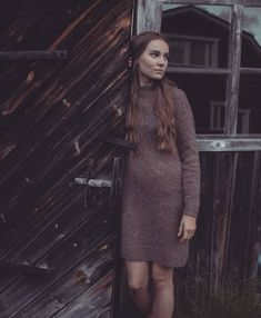Kanerva will keep you warm and cosy through the cold days. It's a simple dress with beautiful and simple cable yoke. Stockinette, Ravelry, Cold Day, Simple Dresses, Cosy, Knit Crochet, My Design, High Neck Dress, Warm