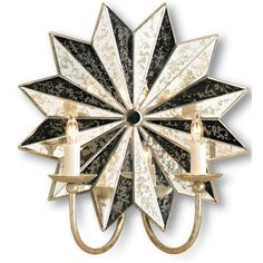 Antique mirror star scounce