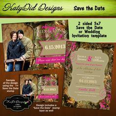 DIY Printable Camo Wedding Invitation RSVP by AtomicaPress