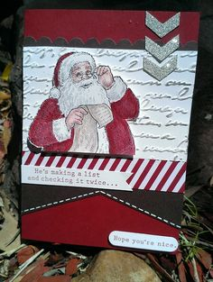 Santa's List- why didn't I get this Santa stamp???? the more I see- the cuter it gets