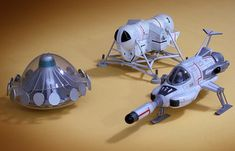 Imai SHADO Interceptor, Comet Miniatures garage kit UFO and scratch-built Moon Mobile Ufo Tv Series, Science Fiction Series, Game Terrain, Sci Fi Ships, Garage Kits, Spacecraft, Spaceship, Hardware, Marvel Comics