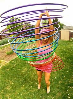 do 30 hula hoops at once and shout your custom message by celticmaiko
