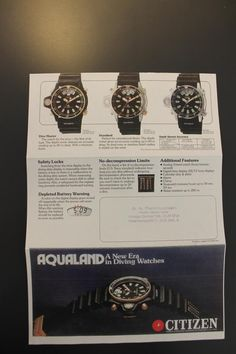 Original Citizen Promaster Aqualand brochure.....