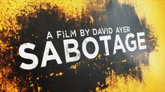 Styleframes and motion graphics for the trailers and tv spot for the action movie Sabotage. Sabotage, Action Movies, Motion Graphics, Behance, Logos, Action Film, Logo, Legos