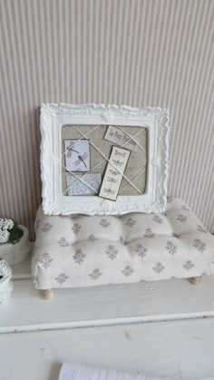 A Billboard for the dollhouse in shabby chic style