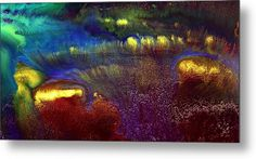 Colorful Horizontal Abstract Art Rainbow By Kredart Metal Print by Serg Wiaderny.  All metal prints are professionally printed, packaged, and shipped within 3 - 4 business days and delivered ready-to-hang on your wall. Choose from multiple sizes and mounting options.