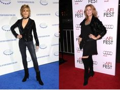 How to wear fashion boots for women over 40.