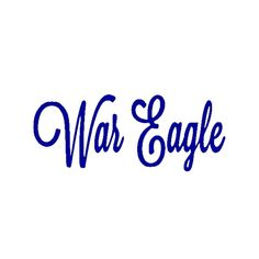 This War Eagle vinyl decal is the perfect way to show your support for the Auburn University Tigers  It is made from permanent outdoor vinyl and