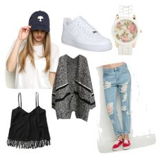 """""""Ohhh """" by iines-kanerva on Polyvore featuring Abercrombie & Fitch, NIKE and Aéropostale"""