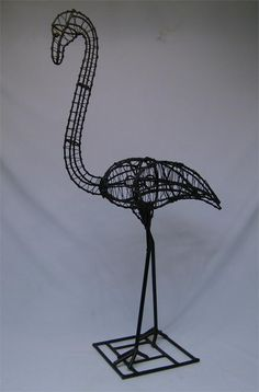 wire frame for paper mache pink Flamingo