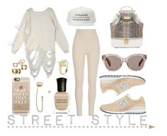 """Street Style"" by adswil ❤ liked on Polyvore featuring My Love My Leggings, New Balance, Tyler Alexandra, Casetify, Deborah Lippmann, Lele Sadoughi, Auden, Oliver Peoples, Apt. 9 and StreetStyle"