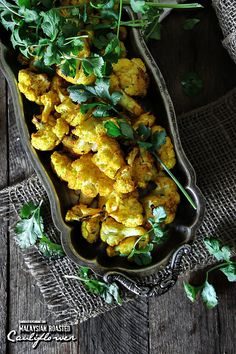Malaysian Roasted Cauliflower - for more recipes, visit www.sandraseasycooking.com