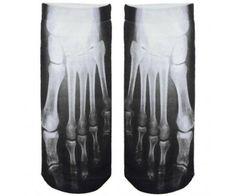 Röntgen zokni - bokazokni. Csontváz mintájú fekete-fehér vicces zokni egy méretben. Jópofa ajándék ötlet!