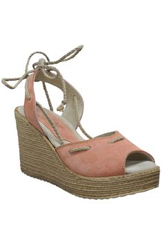 Sbicca Temptation Sandals in Peach - Beyond the Rack