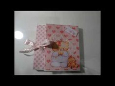 Tuto du mini album bébé ou porte photo - YouTube