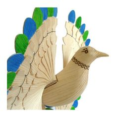 Carved Bird Woodland Mobile Mid Century Modern Art, Fan Carving Collectables Lake House Décor, Anniversary Wood Craft, Unique Nature Nursery ($54) found on Polyvore featuring home, home decor, bird home decor, mobile home decor, mid century modern home decor, wood home decor and wooden home decor