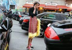 Prada skirt #PhilOh #PhilOhStreetStyle #streetstyle #fashion #style #fashionweek #fallfashionweek #milanfashionweek #Prada