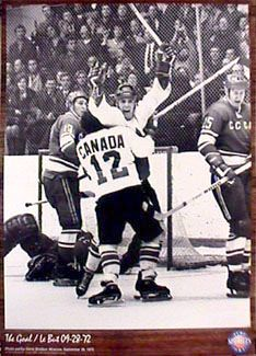 Paul Henderson THE GOAL 1972 Team Canada Summit Series Commemorative Poster - Canada vs. USSR, - available at www.sportsposterwarehouse.com