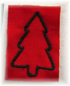 Broderie Sapin Rouge/Vert