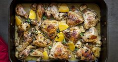 One-Pan Lemon & Garlic Chicken Dinner