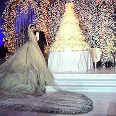 Wedding dress : Zuhair murad @zuhairmuradofficial. Wedding cake : cat and mouth @catandmouth_catering. Wedding planner : Fifteen…