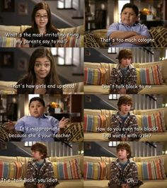 Modern Family, I think this is such a funny show. Tv Quotes, Movie Quotes, Funny Quotes, Big Bang Theory, Fandoms, I Love To Laugh, Shows, Look At You, My Guy