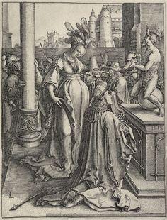 Artist: van Leyden, Lucas, Title: Salomon beim Götzendienst, Date: 1514