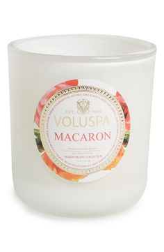 Swooning over this delicious candle that smells like yummy macarons.