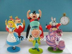 2012 hot promotion gift discount cheap doll Alice in Wonderland Play Set os 6pcs Figures Toys freeshipping-in Action & Toy Figures from Toys & Hobbies on Aliexpress.com