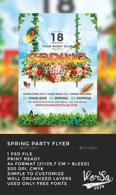 Spring Break Party Flyer Clubs  Parties  Club Flyer Templates