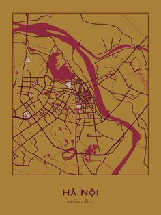 Hanoi map print