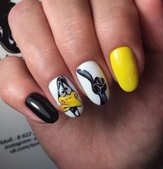 Top 33 Irresistibly Clever Nail Designs for 2019 – Fashionre Top 33 Irresistibly Clever Nail Designs for 2019 – Fashionre Spring Nail Art, Spring Nails, Summer Nails, Cute Nails, My Nails, Pretty Nails, Nail Art Dessin, Short Nail Designs, Animal Nail Designs