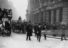 Policeman on duty near Bank station, London, c.1896.