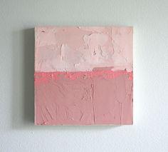 6 x 6 Original Painting // Landscape In Mauve