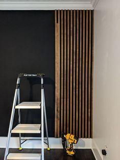 Wood Slat Wall, Wood Slats, Wood On Walls, Plywood Walls, Wood Panel Walls, Wood Wall Decor, Design Scandinavian, Minimalist Scandinavian, Decorative Wall Panels