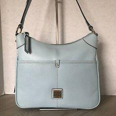 Dooney & Bourke Kimberly Crossbody Bag Pale Blue Saffiano Leather   | eBay Crossbody Shoulder Bag, Crossbody Bag, Blue Bags, Leather Material, Bag Sale, Dooney Bourke, Patent Leather, Ebay, Shoulder Bag