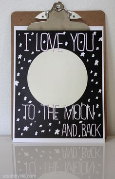 I Love You To The Moon & Back free #printable #nursery #valentines