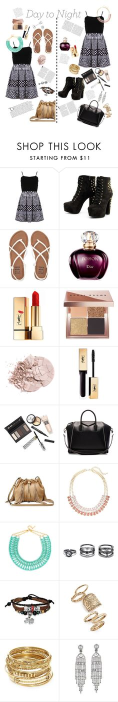"""Work to Party"" by kayley2103 ❤ liked on Polyvore featuring FRACOMINA, Billabong, Yves Saint Laurent, Bobbi Brown Cosmetics, Borghese, Givenchy, Diane Von Furstenberg, Balmain, Lane Bryant and BaubleBar"