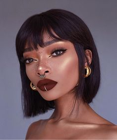 How do you guys feel about a black bob with bangs ? 👍🏾 or 👎🏾 How do you guys feel about a black bob with bangs ? Bob With Bangs, Wigs With Bangs, Bob With Fringe, Bob Bangs, Short Bob Hairstyles, Cute Hairstyles, Black Hairstyles, Hairstyle Ideas, Hair Ideas