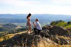 He planned the sweetest photo shoot on top of a hill, but she never expected him to propose!