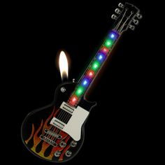 Be prepared to Rock with this electric guitar light show lighter!!! http://www.supercoollighters.com/lighters/novelty-lighters/guitar-light-show-lighter/