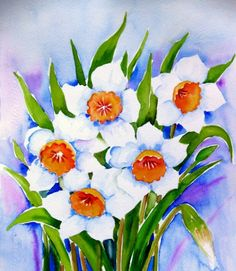 """""""Spring Blooms""""Watercolor painting, painting by artist Meltem Kilic"""