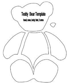 Printable Teddy Bear Sewing Pattern