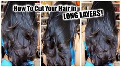 How To Cut Your Own Hair in Layers at Home │ DIY Layers for Long Hair - YouTube