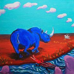 R is for Rhino...'Run, Rhino, run!'