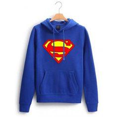 superman logo blue color Hoodies