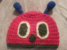 The Very Hungry Caterpillar Beanie Hat Crochet Pattern for Story Reading Time   free crochet pattern from cRAfterChick.com - free crochet pattern from cRAfterChick.com